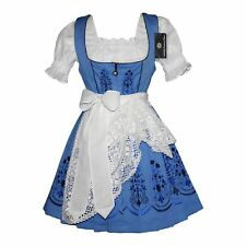 DIRNDL Trachten Oktoberfest Dress German SHORT 3 pc EMBROIDERED Waitress Party