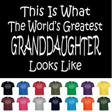 Worlds Greatest GRANDDAUGHTER Birthday Christmas Gift Funny T Shirt Youth