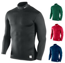 NWT Mens Nike Pro Combat Long Sleeve Hyperwarm Mock Compression Shirt MSRP $50