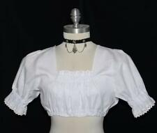 Dirndl Shirt CROP TOP LACE German WHITE Waitress Jumper Oktoberfest Dress SHORT