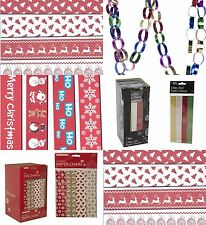120 Cute Traditional Christmas Xmas  Make Your Own Paper Chain Tree Decoration