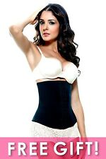 Vedette 103 LATEX Waist Cincher Corset/Faja Colombiana/Shapewear/Girdle BLACK