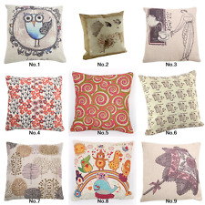 "18"" Square Home Decor Cushion Cover Throw Pillow Case Hold Sofa Owl Bed Room"