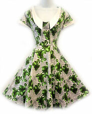 New Ladies1940's/50's  Land girl Home front Darling Sweetheart Swing Tea Dress