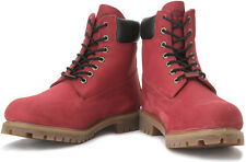 NEW TIMBERLAND 6INCH PREMIUM BOOTS FOR MEN COLOUR BURGUNDY - VAT BILL
