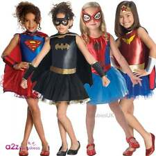 GIRLS BATGIRL SPIDERGIRL SUPERGIRL WONDER WOMAN SUPERHERO FANCY DRESS COSTUME