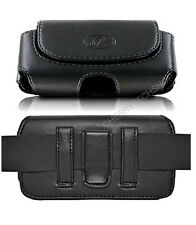 Leather Sideways Belt Clip Case Pouch Cover Magnetic Closure for ZTE Cell Phones