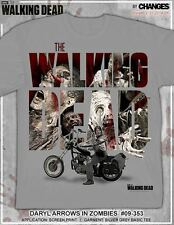 THE WALKING DEAD DARYL DIXON ARROWS IN WALKERS CROSSBOW TWD AMC T SHIRT S-3XL