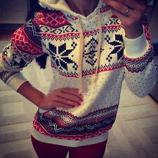New Women Winter Autumn Long Sleeve Fleece Hoody Sweatshirt Coat Sweater Top