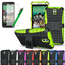 Heavy Duty Shockproof Armor Hybrid Rugged Hard Case Cover For HTC Desire 610