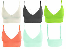 Ladies Womens Textured Strappy Plain  Bra let Style Party Top BoobTube