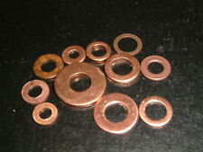 """Imperial Copper Washers- I/D's 1/8"""" - 1/4"""".10 Sizes to choose from, 20 per pack"""