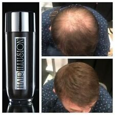 HAIR ILLUSION Hair Building, loss, fibers concealer for men & womens 26.5g brown