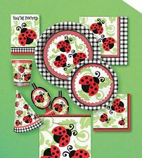 LIVELY LADYBUGS Birthday/Baby Shower PARTY ITEMS Tableware Balloons Decorations