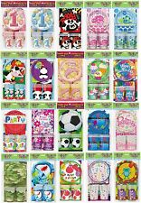 BIRTHDAY PARTY PACK for 8 Boys/Girls THEMED Plates Cups Napkins Tablecover