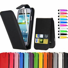 COLORS LEATHER BOOK FLIP W/CARD SLOT WALLET CASE Samsung Galaxy S3 SIII s3 i9300
