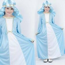 Girls Virgin Mary Costume - Childrens Christmas Nativity Fancy Dress Outfit