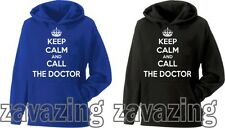 KEEP CALM AND CALL THE DOCTOR UNISEX HOODIE GEEK WHO NERD SCI-FI TV SERIES DR.