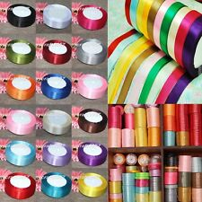 6,10,12,15,20,25,38,50mm 25 Yards Single Faced Satin Ribbon / Grosgrain Ribbon