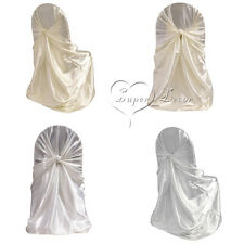 10PCS Universal Satin Chair Cover For Wedding Party Banquet Event Decorations
