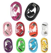 10 Colours 1M USB Data Sync Charger Cable Cord For Apple iPhone 4 4S 3G 3GS TRC