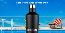 Vinnebago Vacuum Flask Black White Stainless Steel Thermos 3 Insulated Corkcicle