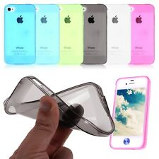 Coque COULEUR Iphone 4, 4G 4S étui Apple silicone gel H-QUALITE  + 1 FILM CADEAU