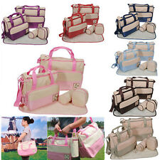 5X Baby Changing Diaper Nappy Changing Mummy Multi Functional Bag Handbag Set