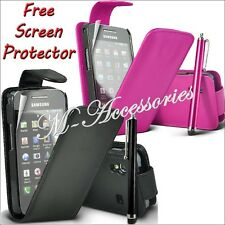 ★★ NEW FLIP PU LEATHER CASE COVER POUCH FOR NOKIA MOBILE PHONES + SCREEN GUARD