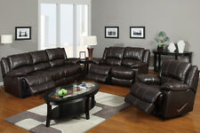 Leather Reclining sofa set - Brown Sofa couch Contemporary furniture #F7088