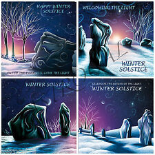 Avebury Yule Winter Solstice cards, pagan, wicca, druid, fire festival cards