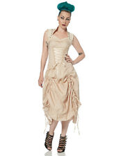 Jawbreaker Long Steampunk Dress Ivory Cream Lace VTG Gothic Victorian
