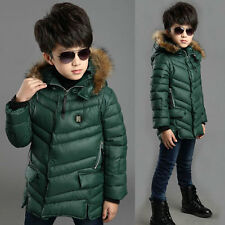 Boys 3-13 age fashion hooded Coat Kids' Winter Polyester Jacket #L98