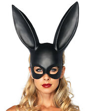 Black Bondage Rabbit Bunny Mask - Leg Avenue 2628