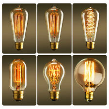 E27 40W 60W Filament Light Bulb Vintage Retro Antique Style Edison Lamp 110/220V