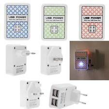 4 USB Ports AC Power Adapter Wall/Travel Charger UK/US/EU Plug for Tablet iPhone