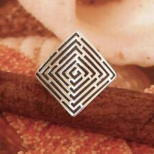 STERLING SILVER SQUARE RING NO STONE SOLID .925 /NEW SIZE J-Y JEWELLERY