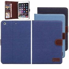 Denim Stand Leather Flip Wallet Card Case Cover For Apple iPad mini 3 2 SP2G