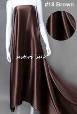 """40mm 100% Pure Silk Fabric Bridal Clothing Sewing Wide 45"""" 12 Colours Sistersilk"""