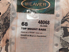 Bases Weaver Aluminum Top Mount #68 Thru #95 See Description For Reference Chart