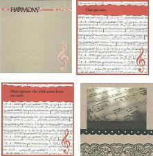 "MUSIC HARMONY DANCE SONG 8"" x 8"" PREMADE DESIGNED SCRAPBOOK PAGE -CHOOSE"
