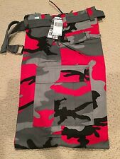 "NWT Men's Regal Wear Red Gray Camouflage Camo Cargo Pants ALL SIZE 34"" length"