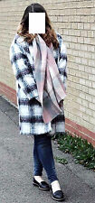 BNWT PRIMARK CHECK BRUSHED OVERSIZED LOOSE FIT BOYFRIEND JACKET COCOON COAT 6 20