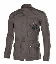 Superdry Men's Cotton Moto Belted Military Field Jacket-Gray