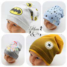 NEW Cute Kids Toddler Boys Hat Spring Beanie Stretchy Soccer Boys Hat Striped