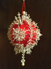 Gramma's Old Attic Collectable Satin Ball Bead Ornament Kit PEARL BLOSSOM