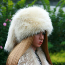 New Fashion Ladies Faux Fox High Quality Fur Russian Hat Style Warm Winter Hat
