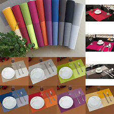 10 Colors Placemat Vintage PVC Insulation Plaid Dining Table Mats Pad
