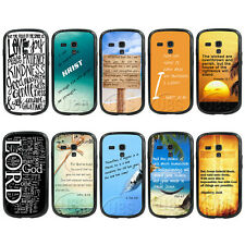 Christian Bible Verse Quote TPUBumper TPU Hard Case For Samsung GalaxyS3 S4 mini