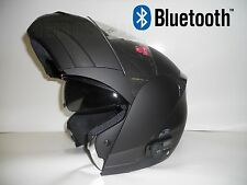 BLACK FLIP UP FULL FACE MOTORCYCLE HELMET with 2 SPEAKER  BLUETOOTH  / DOT RATED